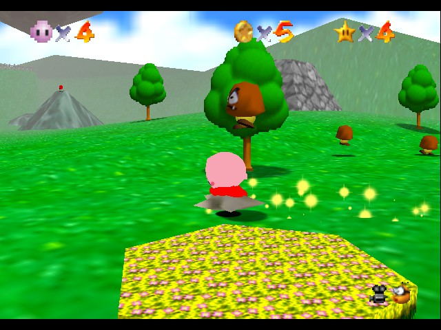 Super Mario 64 - Kirby Edition - Level Bob-Omb Battlefield - it\